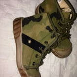 Новые. Кожаные ботинки под кеды Beccamy 16см стелька. Франция. Оригинал.