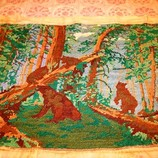 Вишита картина старвинна Мишки на картину И. Шишкина Утро в сосновом бору