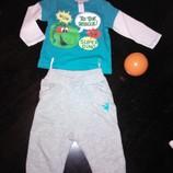 стильный фирменный комплект для малыша р. 74 подарок джинсы