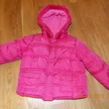 Отличная Розовая Куртка р-р92-1м.