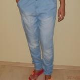 Джинсы с матней С-ка 34р. голубые 100% cotton