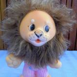 Резиновая игрушка СССР лев 20 см