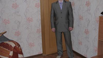 Классический, деловой костюм 44-46р.
