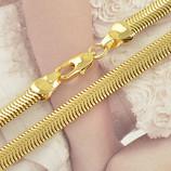 Цепочка позолота 9KGF желтое Золото 610х5мм