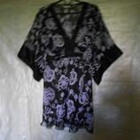 туника летняя, 54 размер,Англия, блузка шифон, 20 размер