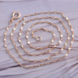 Цепочка позолота 9KGF розовое Золото 455х1.2мм
