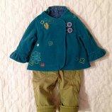 Демисезонный костюм Next 1-1,5 года. Куртка и тёплые штаны, джинсы. Стильный комплект для девочки.