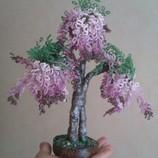 Шикарное дерево из биссера ручной работы