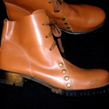 Фирменные ботинки BYFRUS размер 44. Кожа