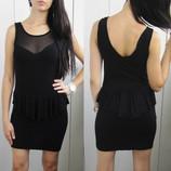 Платье с баской,вискоза.SALE