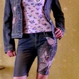 джинсовый пиджак с вышивкой