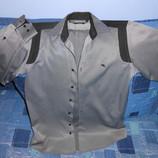 мужская рубашка в полоску размер S