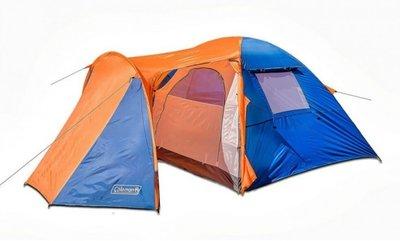 Туристическая палатка Coleman 1504 3-х местная. 2-х слойная. Тамбур