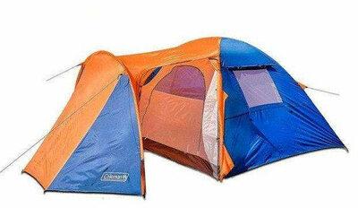Туристическая палатка Coleman 1036 4-х местная. 2-х слойная. Большой тамбур