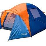 Туристическая палатка Coleman 1011 3-х местная. 2-х слойная. Тамбур1