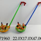 Каталка Курочки на колёсиках, арт 340