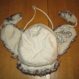 Зимняя шапочка ушанка для девочки