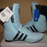 Нові стильні шкіряні дихаючі чоботи Adidas Оригінал Німеччина р.40 стелька 25,5 см
