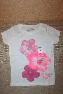 Новые футболки девочке 4Т от Osh Cosh Carters, Картерс
