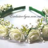Ободок в нежно кремово-зеленом цвете