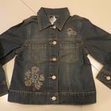 джинсовая куртка для девочки с вышивкой