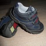 кроссовки кеды мокасины Clarks кожаные для мальчика мигают 14,5 см