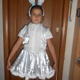 Костюм новогодний карнавальный Зайка на возраст 3-8 лет