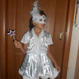 Костюм новогодний карнавальный Фея Снежинка на возраст 4-8 лет