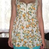 Блуза с цветочным принтом 8/10-36/38, наш 42/44
