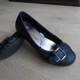 Балетки туфли черные в школу George 21 см
