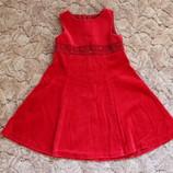 Велюровое нарядное платьице. 4 - 5 лет