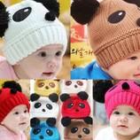 В Наличии Забавная Детская Зимняя Демисезонная Теплая Детская Шапка Панда Для Ваших Солнышек