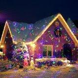 Рождественский уличный лазерный проектор 3 цвета