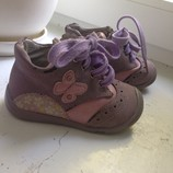 Ботинки демисезонные сиреневые Apawwa для девочки, 20 размер, 12-12,5 см