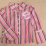Стильная деловая рубашка для девочки, 100% хлопок