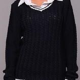 Стильный зимний свитер р48-52