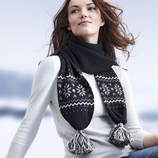 Модный вязаный шарфик с пумпончиками ТСМ Tchibo