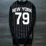 Cedar Wood State Джемпер черный с полосками и надписями New York Yankees