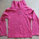 Реглан, кофта розовая с хомутом-воротом, девочке на 110 р