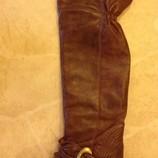 Сапоги ботфорты кожанные, зимние на меху, Италия, Vito del Conti р.37 - 38