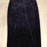 Вечернее платье - черный бархат, вечная классика, рост 164 см