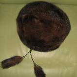 Норковая шапка- берет. универсальный обьем - регулируется