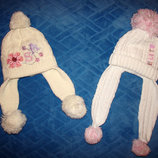 Зимние шапки для девочки 3-5 лет.