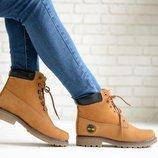 Распродажа. Коричневые зимние ботинки на шнурке нубук