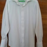 Белая рубашка для мальчика с длинным рукавом на 10 лет