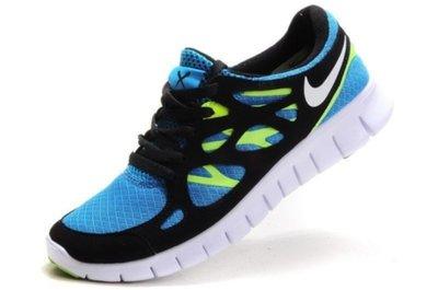 separation shoes 7455c 07707 Кроссовки Nike Free Run Plus 2 - черно-голубые желтый