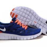 Кроссовки Nike Free Run Plus 2 - синие красный