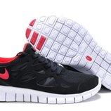 Кроссовки Nike Free Run Plus 2 - черные красный