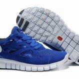 Кроссовки Nike Free Run Plus 2 - синие черный