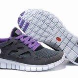 Кроссовки Nike Free Run Plus 2 - черные фиалетовый